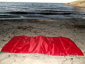 Сумка пляжная для отдыха раскладная на молнии (красная) 140х67х2 см см