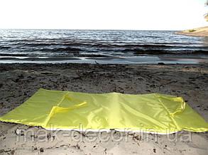Пляжна Сумка для відпочинку розкладна на блискавці (жовта) 140х67х2 см см