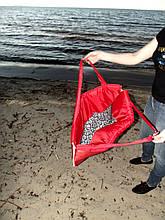 Пляжна Сумка для відпочинку розкладна на блискавці (червона) 140х67х2 см