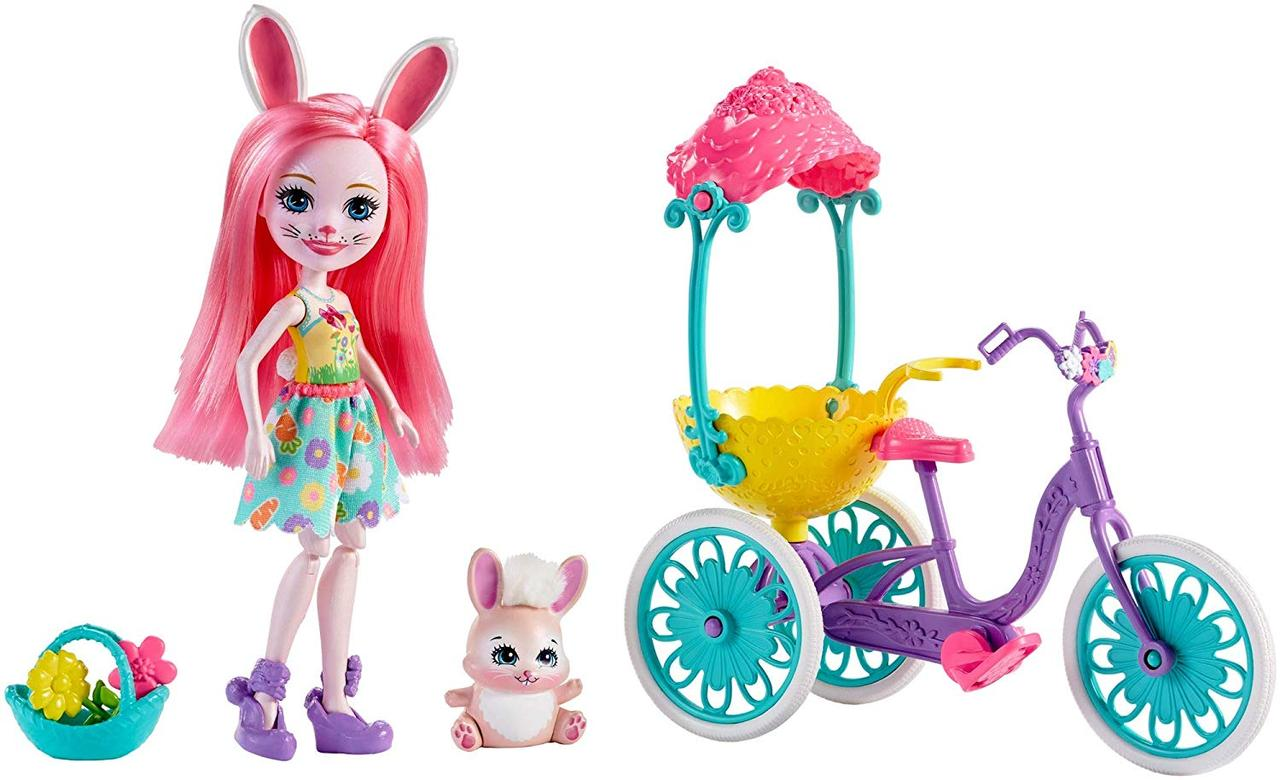 Набор Enchantimals зайка Бри Банни Прогулка на велосипеде Enchantimals Pedal Pals Bree Bunny