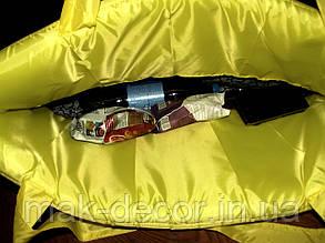 Сумка пляжная для отдыха раскладная на молнии (желтая) 140х67 см