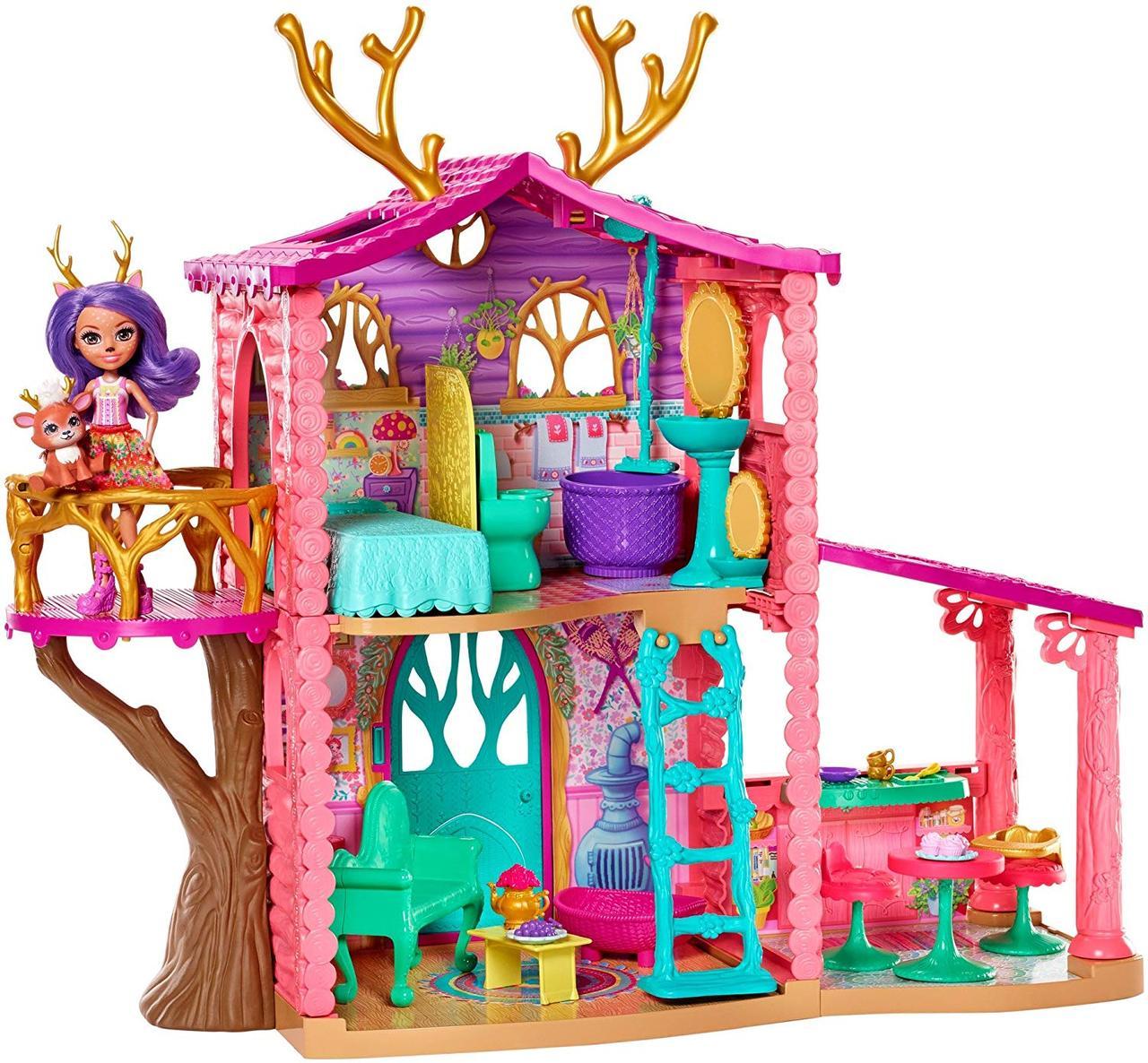Набор Энчантималс Лесной домик Олененка Данессы Enchantimals Cozy Deer House Playset