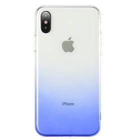 """TPU + PC Ombre для Apple iPhone XS Max (6.5 """"). Синій"""
