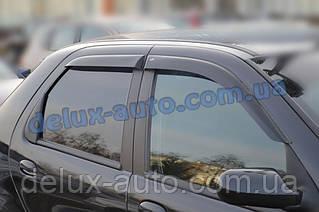 Ветровики Cobra Tuning на авто Fiat Albea Sd 2007-2012 Дефлекторы окон Кобра для Фиат Албея седан 2007-2012
