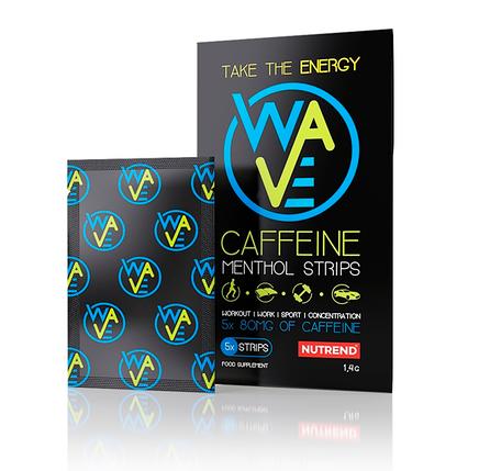 Енергетичний стимулятор Nutrend Wave Caffeine Menthol Strips 5 strips, фото 2