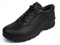 Зимние полу-ботинки на меху черные мужские кожаные Rosso Avangard Ragn Crazy Reba Black, фото 1