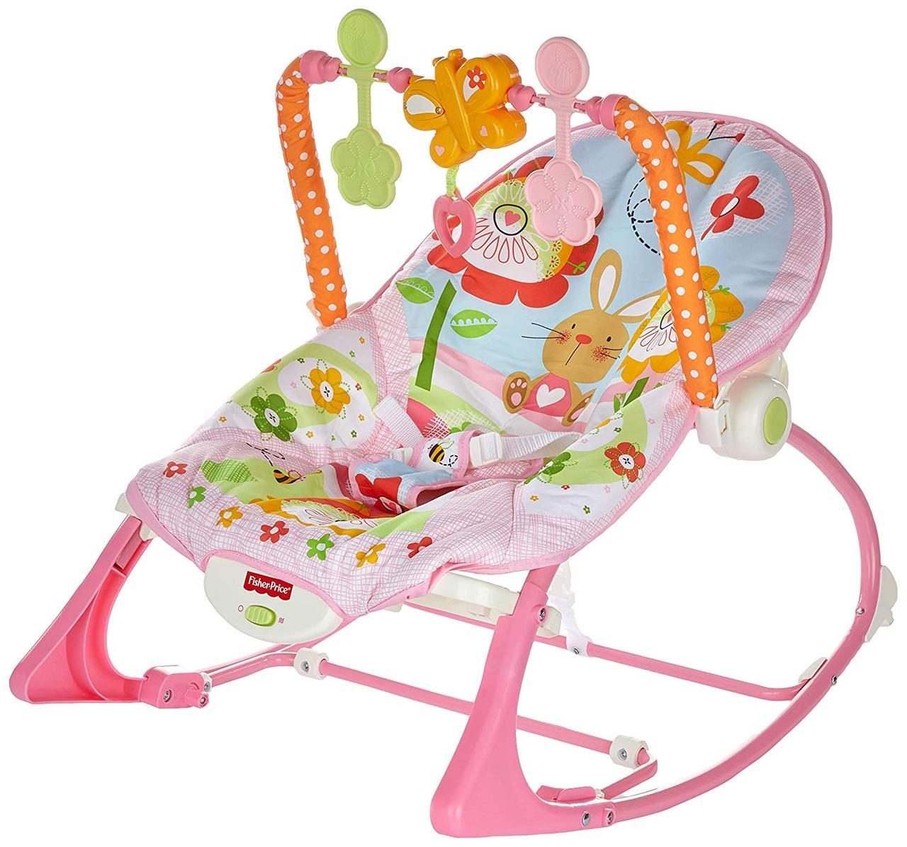 Массажное кресло качалка Фишер Прайс Банни Fisher Price Bunny
