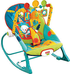 Кресло качалка Фишер Прайс шезлонг Сафари Fisher Price Dark Safari