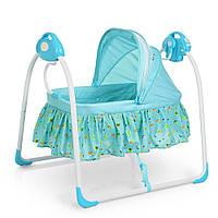 Кроватка-люлька детская 80308-4 Синяя Гарантия качества Быстрая доставка, фото 1