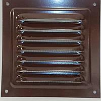 Вентиляционная решетка металлическая МВМ 250 с (коричневая), фото 1