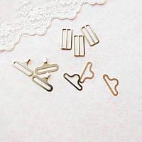 Застежки крючки для галстука-бабочки 18 мм, никель