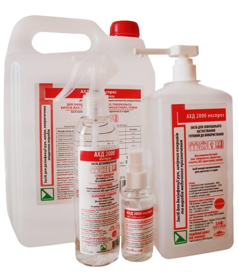 АХД 2000 экспресс с распылителем - средство для дезинфекции рук, кожи и медицинских приборов, 250 мл