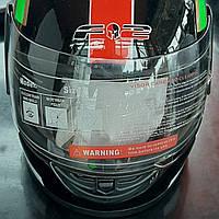 Шлем черный с красной полоской размер 52-54