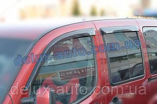 Ветровики Cobra Tuning на авто Fiat Doblo Cargo 5d Panorama 5d 2009 Дефлекторы окон Кобра для Фиат Добло 5д