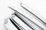 Ветровики хромированные, дефлекторы окон Chevrolet Captiva 2006-2017 (Autoclover A453), фото 6