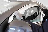 Ветровики хромированные, дефлекторы окон Chevrolet Captiva 2006-2017 (Autoclover A453), фото 8