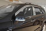 Ветровики хромированные, дефлекторы окон Chevrolet Captiva 2006-2017 (Autoclover A453), фото 9