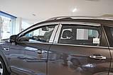 Ветровики хромированные, дефлекторы окон Chevrolet Captiva 2006-2017 (Autoclover A453), фото 10
