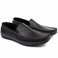 Мужские мокасины кожаные черные стильные обувь Rosso Avangard Guerin M6 Pelle, фото 1