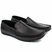 Мужские мокасины кожаные черные стильные обувь Rosso Avangard Guerin M6 Pelle