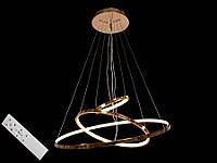 Светодиодная подвесная люстра с регулируемой высотой и пультом-диммером хром 9079-60*40*20