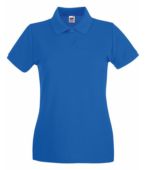 Женская футболка поло Премиум S, Ярко-Синий