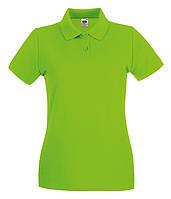 Женская футболка поло Премиум S, Лайм