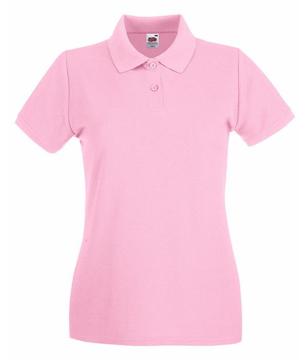 Женская футболка поло Премиум M, Светло-Розовый