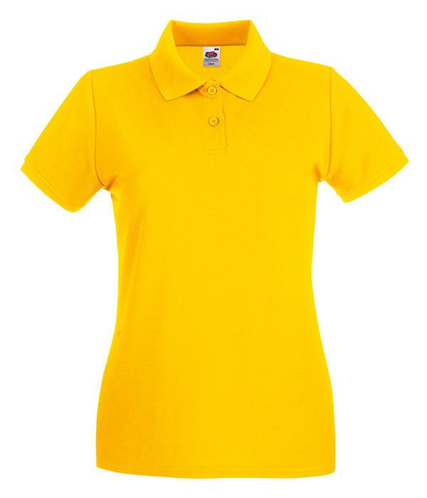 Женская футболка поло Премиум L, Солнечно Желтый