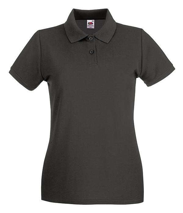 Женская футболка поло Премиум L, Светлый Графит