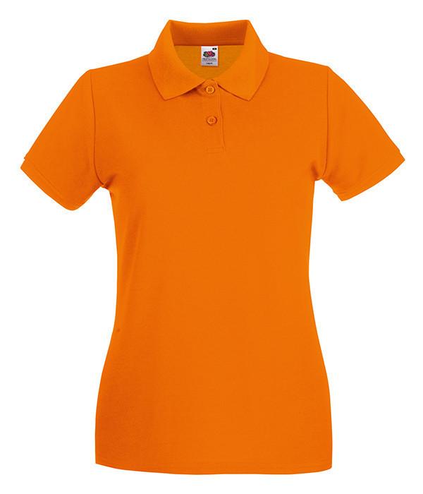 Женская тенниска поло 2XL, Оранжевый