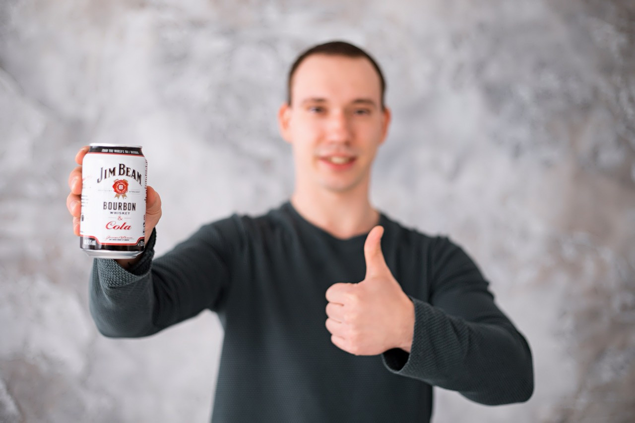 Напиток виски кола Jim Beam Cola 330 мл