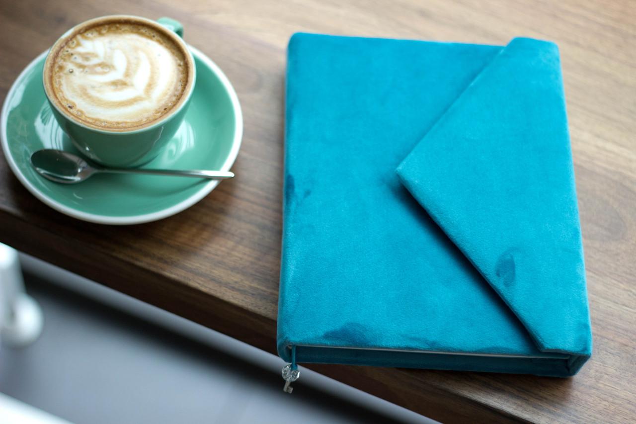 Бархатный блокнот дневник  клатч для девушки