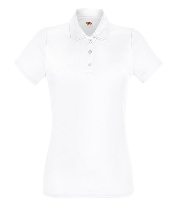 Женская спортивная тенниска поло 2XL, Белый