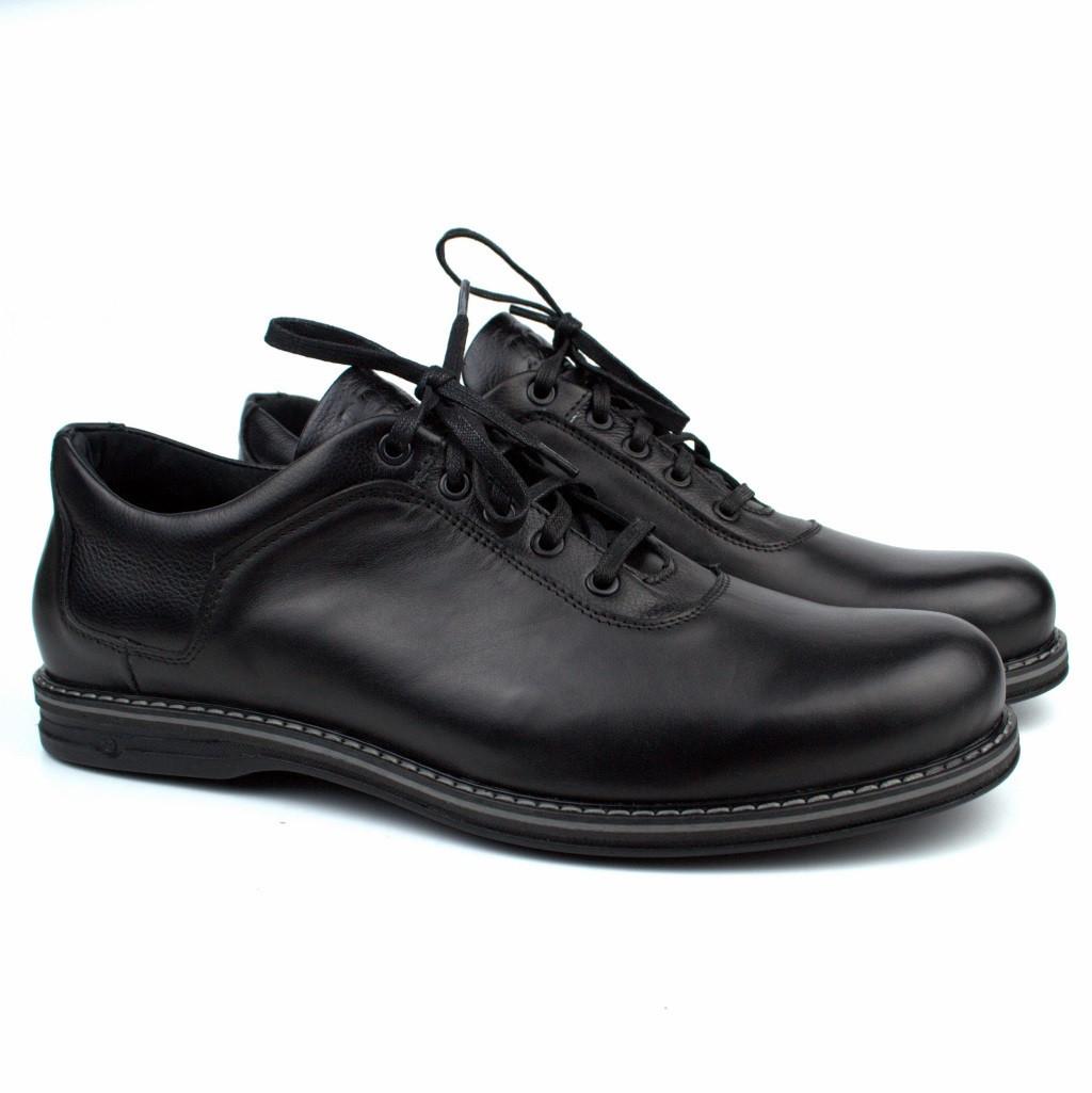 Туфли облегченные черные кожаные демисезонная мужская обувь больших размеров Rosso Avangard Ragn Comfort BS