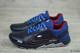 Мужские кожаные кроссовки Nike (Реплика) (Код: N-5 с/эл   ) ►Размеры [40,41,42,43,44,45]