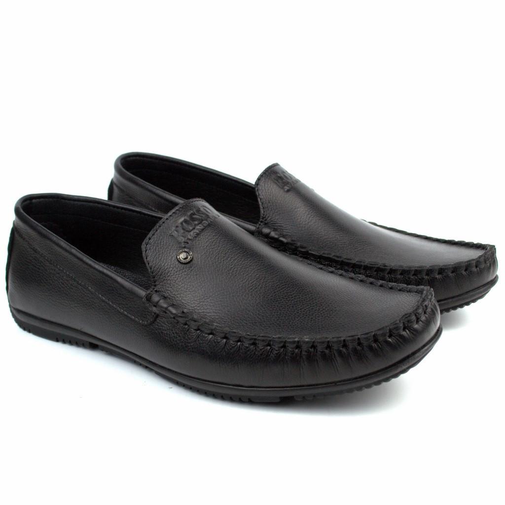 Кожаные мокасины черные натуральные мужская обувь больших размеров Rosso Avangard Guerin M6 Pelle BS