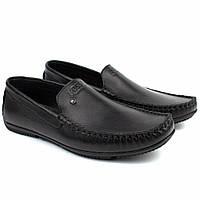 Кожаные мокасины черные натуральные мужская обувь больших размеров Rosso Avangard Guerin M6 Pelle BS, фото 1