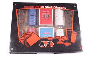 Набор для игры в покер Duke 200 фишек 4 рюмки (PG42200)