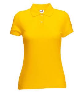 Женское поло XS, Солнечно Желтый