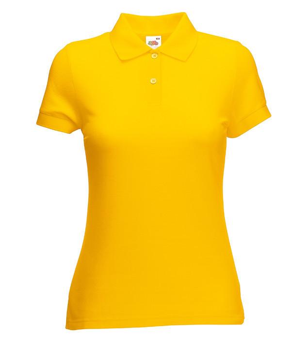 Женское поло M, Солнечно Желтый