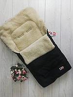 Конверт-чехол в санки,коляску Кидс Мини(цвет черный), фото 1