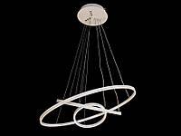 Светодиодная подвесная люстра с регулируемой высотой и пультом-диммером белая 9079-60*40*20, фото 1