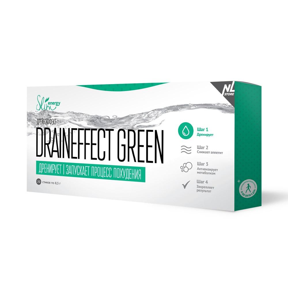 Драйн  Драйнэффект Грин DrainEffect Green Дренирующий напиток для вывода лишней жидкости из организма