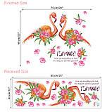 "Интерьерная наклейка ""Фламинго пара"" Гаваи, размер 56*70 см., фото 2"