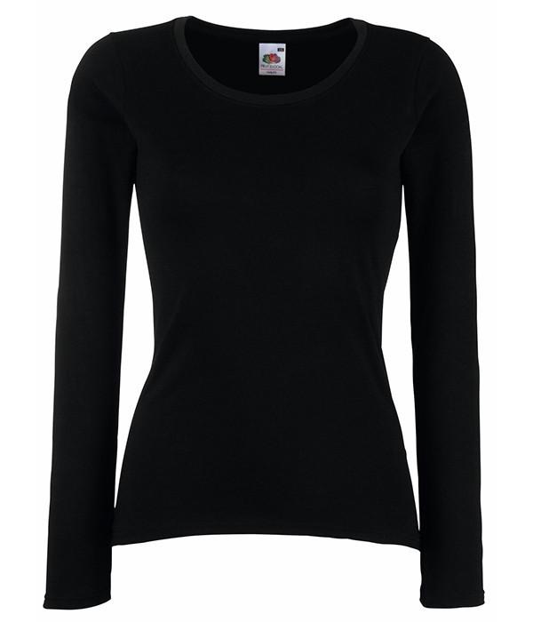 Женская футболка с длинным рукавом XS, Черный