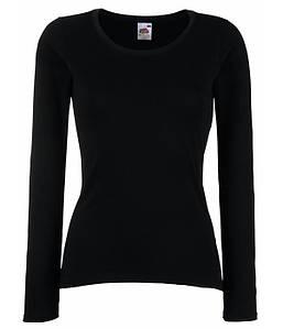 Женская футболка с длинным рукавом M, Черный