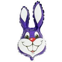 Фольгированный шар Кролик 42см х 24см Фиолетовый