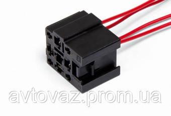 Разъем реле 4 контактного ВАЗ 2110, 2111, 2112, Калина, Приора с проводами