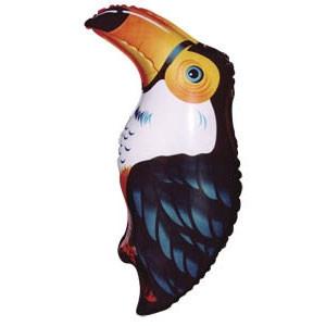 Фольгированный шар Тукан 37см х 19см Черный